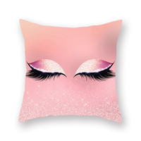 40styles Wimpern Pillowcase Fashion Augen Car Kissenbezug 18x18 Kissenbezug Hotels Peach Skin Sofa Kissenbezug Hauptdekoration VT0598