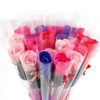 크리스탈 결혼식에 장미 꽃 수제 비누 장미 비누 꽃 발렌타인 선물 어머니의 날 선물 스승의 날 선물을 부탁