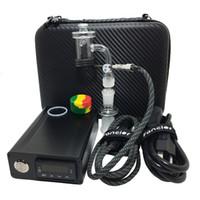 Enail E-Prego Banger Quartz Prego 20 MM 25 MM com Cap Masculino apto para 25 MM Aquecedor De Bobina De Aquecimento Para Plataforma de Petróleo Bongo De Vidro Bongs tubulação de água