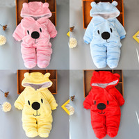 Babyspielanzug 4 Farben Kind-Junge Designer-Kleidung für Neugeborene Baby-Kleidung Herbst-Winter-Mädchen Schneeanzüge Overall JY984