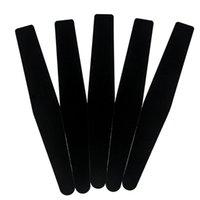 3 스타일 전문 검은 색 매니큐어 파일 샌딩 버퍼 블록 스폰지 사포 더블 사이드 매니큐어 페디큐어 네일 아트 도구