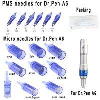 استبدال خراطيش ميكرونيدل نصائح للسيارات الكهربائية القابلة لإعادة الشحن اللاسلكية A6 الدليل القلم ديرمابن مايكرو الأسطوانة العناية بالبشرة العلاج MTS PMU