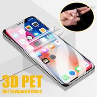 Pantalla de la cubierta completa 3D curvo protector de la película de PET suave para el iPhone 12 Mini 11 Pro Max XS XR X 8 7 6 6S Plus SE 2020 (no de vidrio templado)