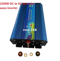 Freeshipping 2500 W inversor de onda senoidal pura 12 V DC PARA 220 V AC Inversor de Potência de Onda Senoidal Pura, 5000 w pico poder inversor
