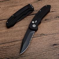 SW50BS Auto Survival Tactical Pieghevole Coltello Pieghevole 440C Black Black Semi Tirerazione Maniglia in alluminio con confezione scatola retriale