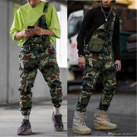 Pantalones para hombre de la calle de Carga ropa de sport del camuflaje del estilo de la correa de los pantalones largos Trajes de pantalones casuales masculino asiático S-3XL