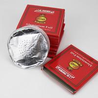 50 шт. / Упаковка 120 мм дыма перфорированная алюминиевая фольга бумага для кальяна чаша круглый образный отверстие олова Chicha Shisha древесный уголь 0,02 мм Sheesha курить аксессуары