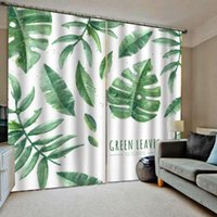 Window Tratamento 3D Photo Curtain Cortina branca Sala alta sombreamento blackout quarto Cortinas cortinas
