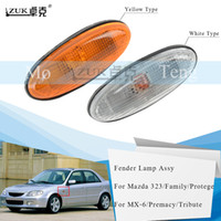 ZUK Side Turn Signal Light Fender Lamp Assy Replacement For MAZDA 323 1998-2003 Family Protege Premacy MX-6 Tribute Left=Right