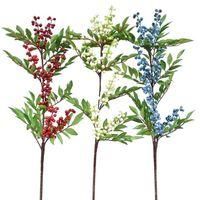 همية طويل الجذعية الأحمر بيري محاكاة رغوة فورتشن البرية الفاكهة للنباتات الزفاف ديكور المنزل الاصطناعي