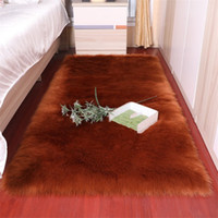 Soft Artificial Sheepskin Carpet Cushion Cover Bedroom 100*1...