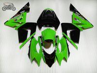 Custom Motorcycle Fairing-kits voor Kawasaki Ninja ZX10R 2004 2005 Groene Body Reparatie Backings Set ZX-10R 04 05 ZX 10R 04-05