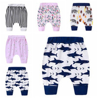 Vêtements pour bébé enfant en bas âge été Sarouel PP Pantalons Leggings Pantalons coton rayé Haroun Imprimer Collants pantalon enfant causales Pantalon capris CZYQ5139
