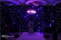 Nouveau mode Bleu - Couleurs Blanc LED étoile rideau mariage Backdrop décoration en tissu avec télécommande Livraison gratuite