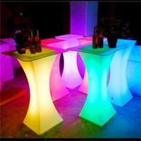 Out door use LED lighted bar cocktail table Rechargeable bar...
