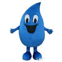 Trajes de mascote adulto azul água-soltar fantasia desenhos animados