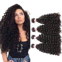 Белла Hair® вьющихся волос Плетение 4шт / серия бразильский волос Необработанные может быть дешевой бразильской крашеных волос расширений Кудрявые Weave