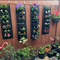 Novo Design Vertical Pendurado Jardim Plantador Potenciômetros Potenciômetros à Prova D 'Água Pendurado Saco De Flowerpot Solução Perfeita