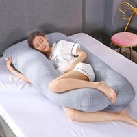 U 모양의 스트라이프 출산 베개 임산부 잠자는 지원 베개 임산부 잠자는 지원 베개 임산부