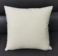 17 * 17 Zoll Natürliche Leinwand-Kissenbezug Undyed Cotton Wurfkissenbezug Blank Sofa-Kissen Casefor Handmalerei