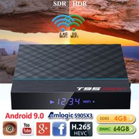 T95 MAX + AMLogic نوع S905X3 الروبوت 9.0 OTT TV صندوق 4GB 64GB المزدوج الفرقة واي فاي 2.4G + 5G BT4.0 X96 H96 الهواء MAX