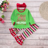 Retail Girls Christmas Clothing Sets 3pcs outfits set(printe...