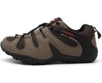 Lo más atléticos 2019 de los hombres grandes de los hombres respirables los zapatos del alpinismo al aire libre antideslizante zapatos para caminar de desgaste Formación yakuda resistentes instructores en línea