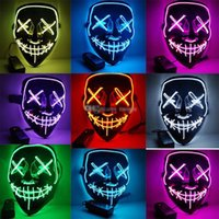 10 Styles Halloween LED Light Up Mask Many Options Party Cos...