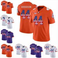 Männer Clemson Tigers 44 B. J. Goodson 10 Ben Boulware 3 Artavis Scott 90 Dexter Lawrence 1 Jayron Kearse College-Jersey American Flag Nummer