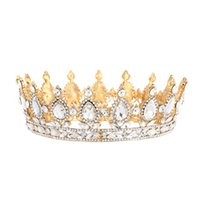 New fashion diamond bride-crown alloy pearl crystal euro-american popular wedding portrait queen's crown Jewelry Gift