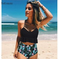 2020 New High Waist Bikini Swimwear Women Swimsuit Push Up B...