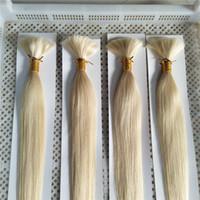 여우 인간의 머리카락 대량 가장 가벼운 금발 # 60 머리 대량 14-28inch 100g / 번들 브라질 인간의 머리카락 번들