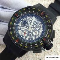 Hot de alta calidad para hombre relojes automáticos mecánicos RM60-01 goma relojes de pulsera correa de acero inoxidable de dirección de navegación Deportes luminosos