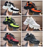 Prada shoes dos homens chegada Cloudbust Trovão malha Luxo Oversized Sneakers Luz sola de borracha 3D Sneakers Ladies Tamanho Grande Três