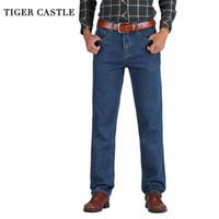 Jeans pour homme Tiger Castle Hommes Coton Straight Classic Baggy Plus Taille Spring Spring Automne Denim Pantalons Designer Pantalons Homme