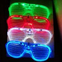 الصمام الخفيفة نظارات اللمعان مصراع شكل نظارات الصمام نظارات فلاش نظارات شمسية رقصات حزب اللوازم مهرجان الديكور عيد الميلاد الهالووين