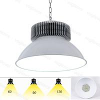 LED 높은 베이 조명 80RA SMD3030 50W 100W 150W 200W 산업 조명 회색 120 ° 커버 알루미늄 라디에이터웨어 하우스 차고 워크샵 DHL