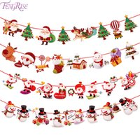 FENGRISE Christmas 2018 Banner Wall Hangings Christmas Ornam...
