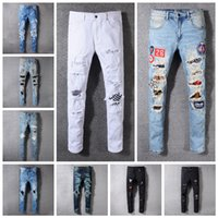 Men Denim Straight Jeans 16 Styles Biker Skinny Jeans Casual...