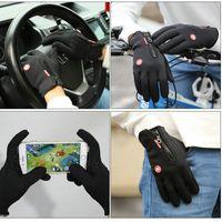 Invierno deportes al aire libre cortavientos Guantes ciclismo Guantes térmicos impermeables para los guantes de conducción de la motocicleta Hombres Mujeres Senderismo Esquí