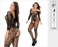 المرأة الجديدة أكمام طويلة التنين زهرة مثير للاهتمام والمفتوح المنشعب Netsuit لالأوروبية والتجارة الخارجية الأمريكية