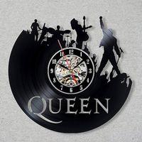 Queen Rock Band настенные часы Современный дизайн Музыка Стиль Классический Винил Часы настенные Часы Art Home Decor Подарки для музыканта Y200109