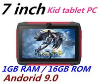 niño Tablet PC Q98 Quad Core 7 pulgadas 1024 * 600 HD de pantalla Android 9.0 de AllWinner A50 verdadera Q8 1 GB de RAM 16 GB con WiFi Bluetooth
