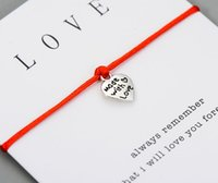 Made With Love Heart Charms Wish Bracelet for Lovers Women C...