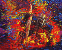 팔레트 나이프 손으로 그린 Mondern Wall Art 캔버스에 벽 장식용 오일 페인팅 Abstract Transformers Optimus Home 고품질 액자 없음