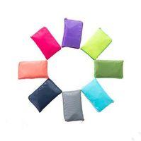 Yeniden kullanılabilir Katlanabilir Bakkal Çanta Çevre Dostu Katlanır Çanta Büyük Beden Fermuar Çantası Su geçirmez Alışveriş Çantaları Saf Renk Bez Çantalar ZYQ158