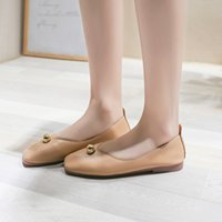 SAGACE Chaussures Casual Femmes Tête Carrée Simple Chaussures Été 2019 Lady Shallow Mouth Bas-Top Plat Lazy Dropship May20