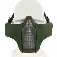 New Airsoft Tático Máscara Tático PDW Metade Máscara de Metal Crânio Malha de Proteção Do Exército Wargame Acessórios de Caça Máscaras de Paintball
