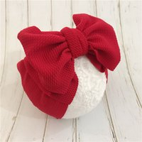 New Adjustable Big Bow corn Turban headband Top Knot Baby Wi...