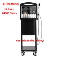 Professional 3D 4D HIFU Machine 20000 Shots de alta intensidad enfocada antiarrugas de ultrasonido para el liebre de la cara Pecho y cuerpo adelgazante